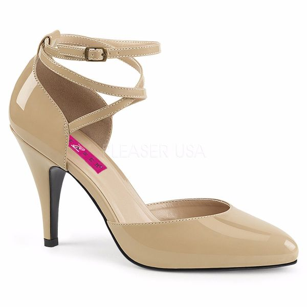Product image of Pleaser Pink Label Dream-408 Cream Patent, 4 inch (10.2 cm) Heel Court Pump Shoes