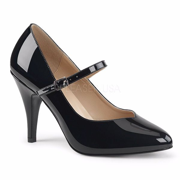 Product image of Pleaser Pink Label Dream-428 Black Patent, 4 inch (10.2 cm) Heel Court Pump Shoes