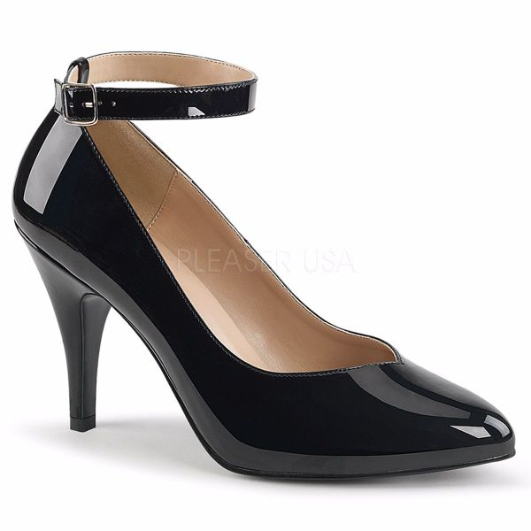 Product image of Pleaser Pink Label Dream-431 Black Patent, 4 inch (10.2 cm) Heel Court Pump Shoes