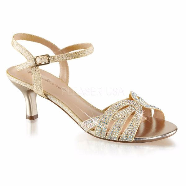 Product image of Fabulicious AUDREY-03 Nude Shimmering Fabric 2 1/2 inch (6.4 cm) Kitten Heel Ankle Strap Criss-Cross Sandal Shoes