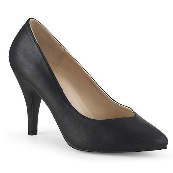 Product image of Pleaser Pink Label DREAM-420W Black Fazu Faux Leather 4 inch (10.1 cm) Heel Pump Court Pump Shoes