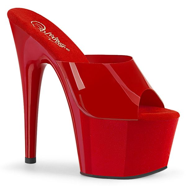 Product image of Pleaser ADORE-701N Red (Jelly-Like) Polyurethane (Pu)/Red 7 inch (17.8 cm) Heel 2 3/4 inch (7 cm) Platform Slide Slide Mule Shoes