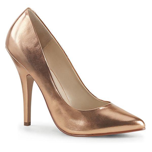 Product image of Pleaser SEDUCE-420 Rose Gold Metallic Polyurethane (Pu) 5 inch (12.7 cm) Heel Classic Pump Court Pump Shoes