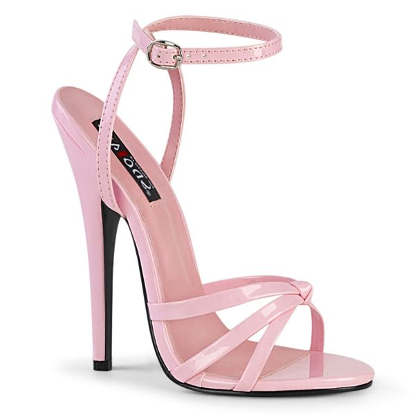 Product image of Devious DOMINA-108 Baby Pink Patent 6� Wrap Around Knotted Straps Sandal Shoes