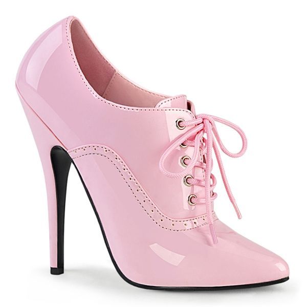 Product image of Devious DOMINA-460 Baby Pink Patent 6 inch (15.2 cm) Oxford Lace-Up Pump Court Pump Shoes