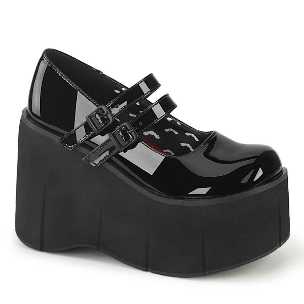 Product image of Demonia KERA-08 Black Patent 4 1/2 inch (11.4 cm) Platform Maryjane