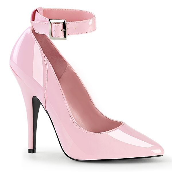 Product image of Pleaser SEDUCE-431 Baby Pink Patent 5 inch (12.7 cm) Heel Ankle Strap Pump Court Pump Shoes