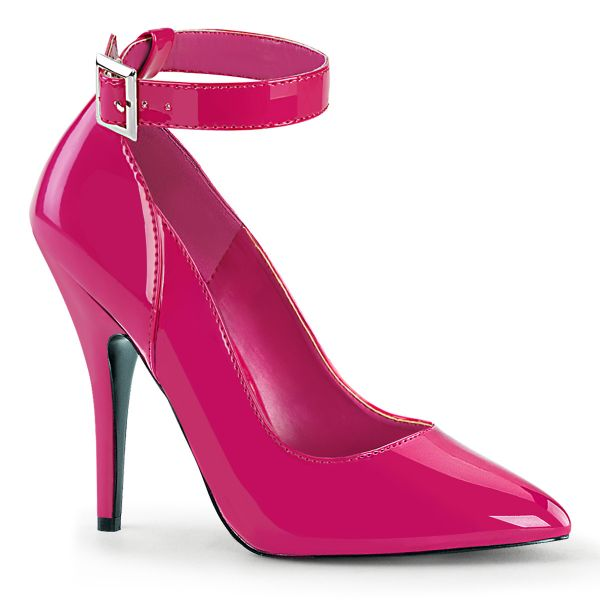 Product image of Pleaser SEDUCE-431 Hot Pink Patent 5 inch (12.7 cm) Heel Ankle Strap Pump Court Pump Shoes